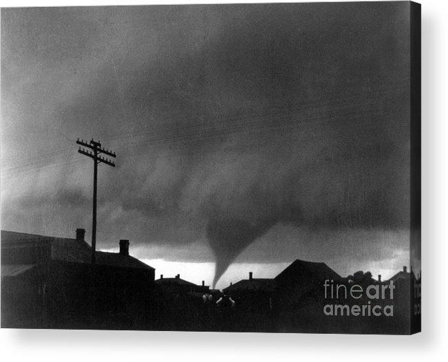 1902 Acrylic Print featuring the photograph Kansas: Tornado, C1902 by Granger
