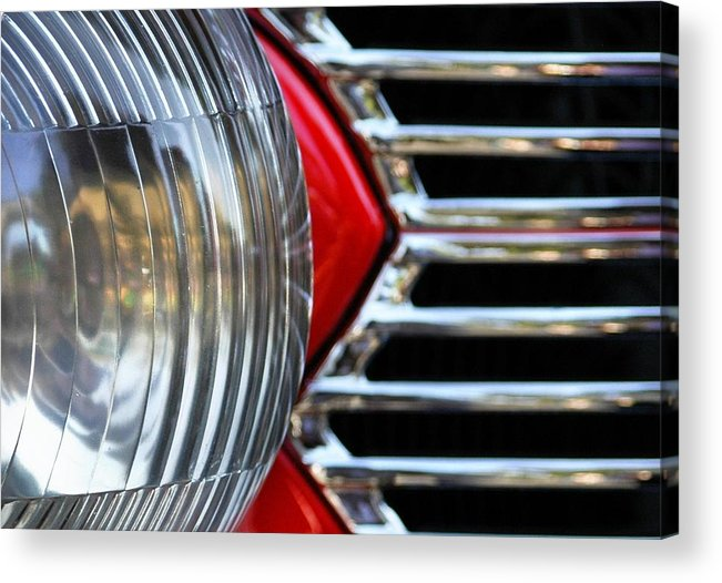 Car Acrylic Print featuring the photograph Light And Grill by Dan Holm