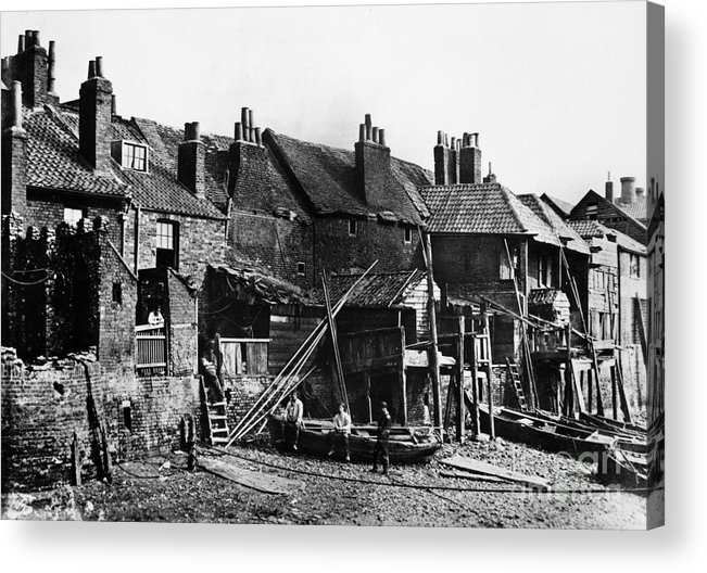 1860 Acrylic Print featuring the photograph London: Riverside, C1860 by Granger