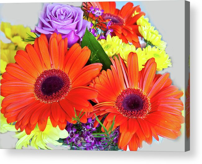 Bouquet Acrylic Print featuring the photograph Lovely Bouquet by Vijay Sharon Govender