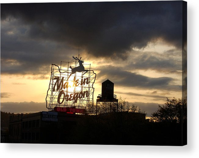 Oregon Acrylic Print featuring the photograph Made In Oregon by Heather S Huston