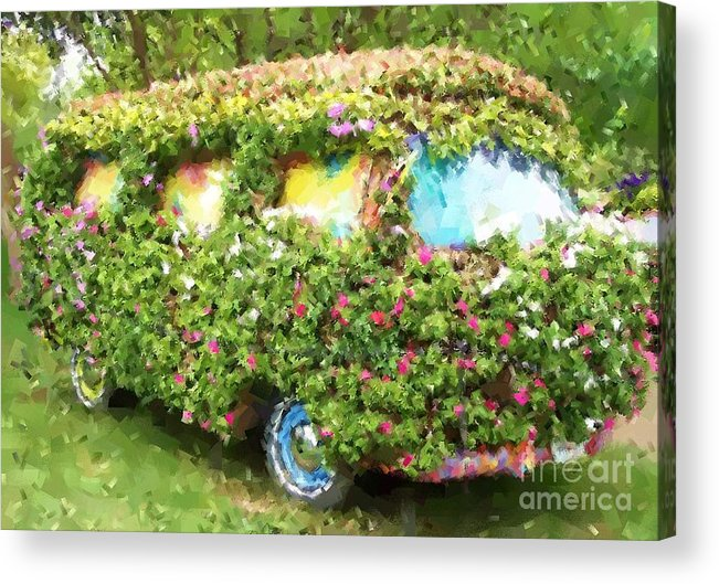 Volkswagen Acrylic Print featuring the photograph Magic Bus by Debbi Granruth