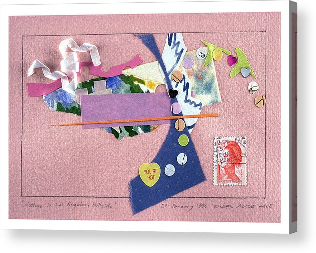 Collage Acrylic Print featuring the mixed media Matisse In Los Angeles by Eileen Hale