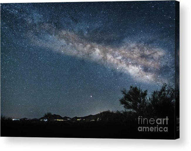 Milky Way Acrylic Print featuring the photograph Milky Way 1 by Larry White