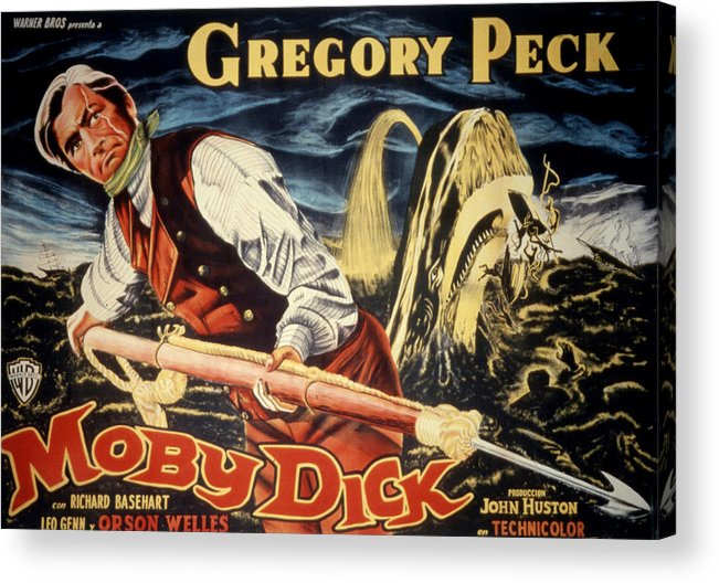 1950s Poster Art Acrylic Print featuring the photograph Moby Dick, Gregory Peck, 1956 by Everett