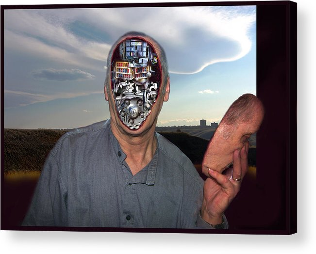 Surrealism Acrylic Print featuring the digital art Mr. Robot-otto by Otto Rapp