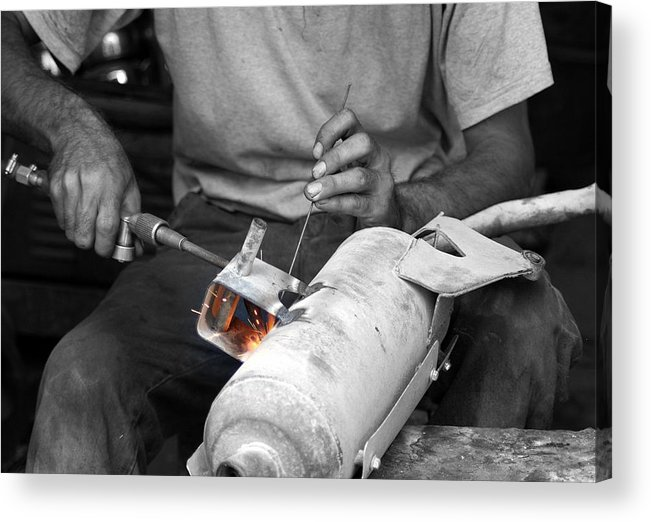 Turkey Acrylic Print featuring the photograph Muffler Weld by Don Prioleau