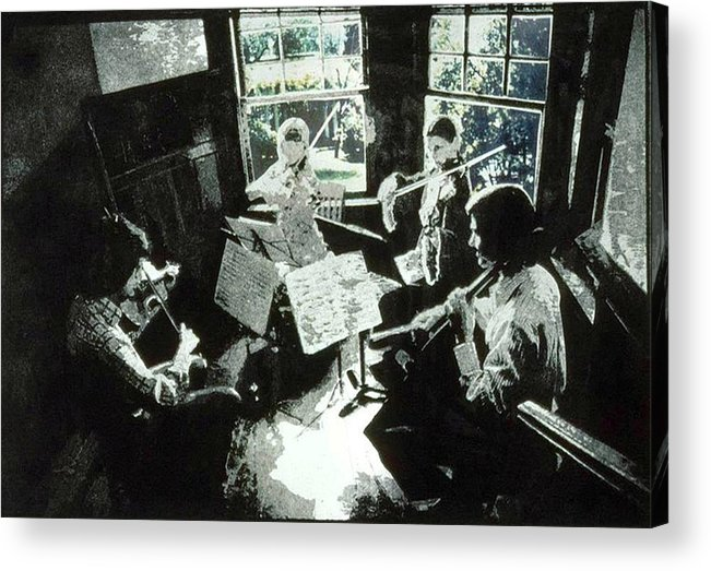 String Quartet Acrylic Print featuring the mixed media Music As Light by Randy Sprout