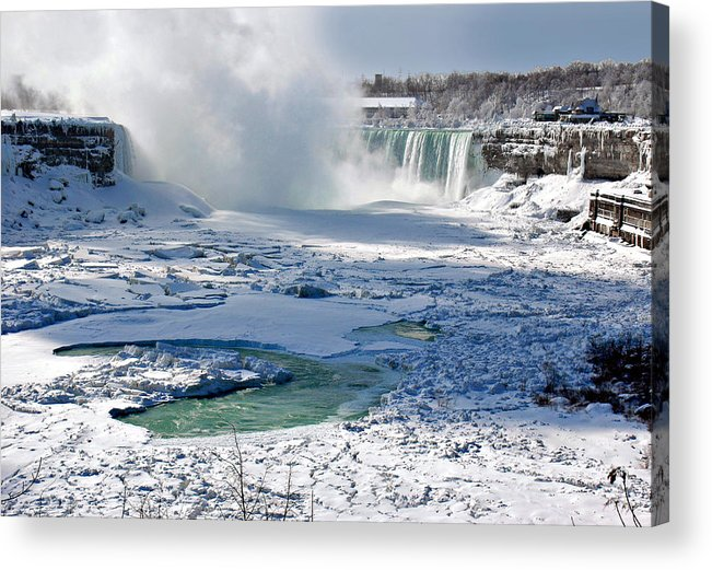 Niagara Falls Frozen Acrylic Print featuring the photograph Niagara Falls Frozen II by J R Baldini Master Photographer