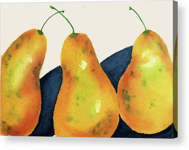 Fruits Acrylic Print featuring the painting Not A Pair II by Joan Zepf