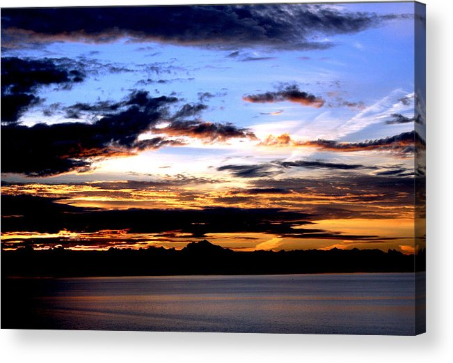 Sunrise Acrylic Print featuring the photograph Oak Harbor Sunrise Sr 1002 by Mary Gaines