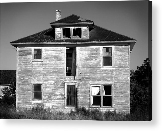 Black And White Acrylic Print featuring the photograph Old House On Stagecoach Road by Stephen Mack
