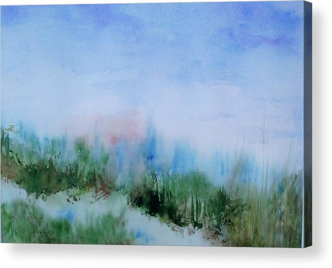 Landscape Acrylic Print featuring the painting Overlook by Suzanne Udell Levinger