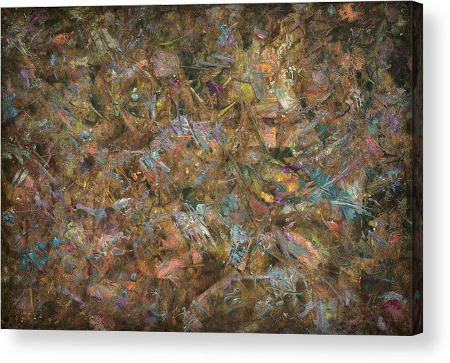 Abstract Acrylic Print featuring the painting Paint Number 18 by James W Johnson