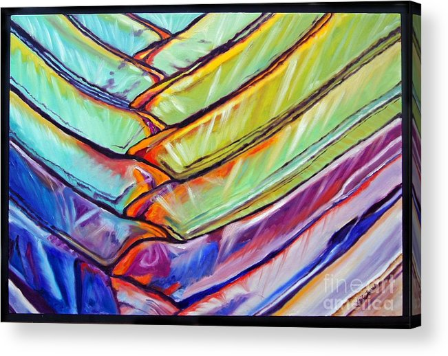 Abstract Acrylic Print featuring the painting Palm 1 by Gail Zavala