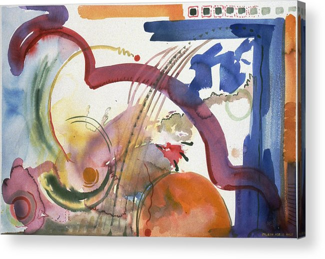 Abstract Acrylic Print featuring the painting Paths And Places by Eileen Hale