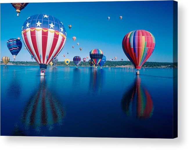 Hot Air Balloons Acrylic Print featuring the photograph Patriotic Hot Air Balloon by Jerry McElroy