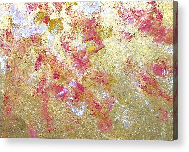 Abstract Acrylic Print featuring the painting Petal Abstraction by Michela Akers