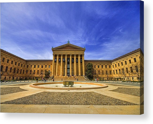 Architecture Acrylic Print featuring the photograph Philadelphia Art Museum by Evelina Kremsdorf
