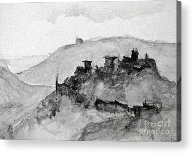 Landscape Acrylic Print featuring the painting Proceno Italy by Sarah Goodbread