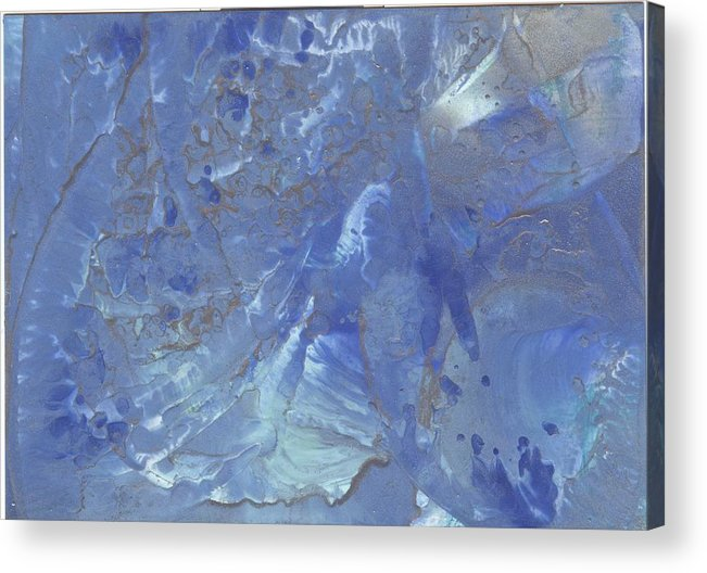 Encaustic Acrylic Print featuring the painting Quantum Joy by Cathy Minerva