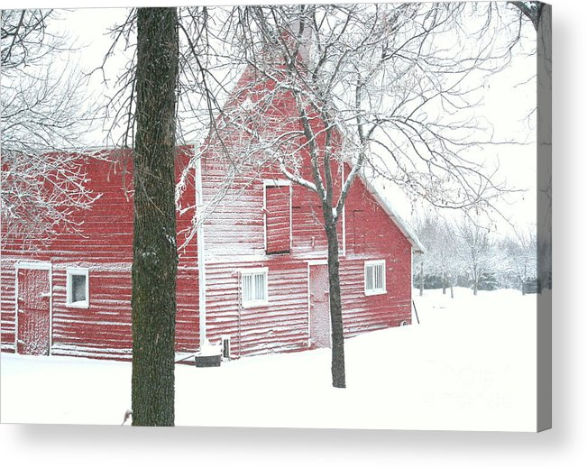 Barn Acrylic Print featuring the photograph Red And Stormy by Julie Lueders