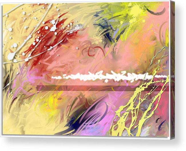 Abstract Acrylic Print featuring the digital art Red Convertable by Snake Jagger
