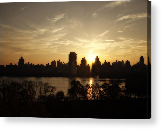 New York Acrylic Print featuring the photograph Reservoir Sunrise by Ariane Moshayedi