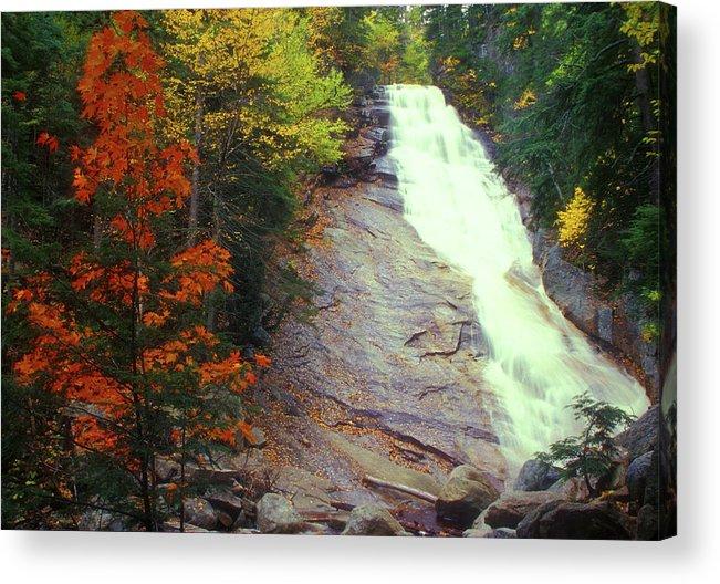 Waterfall Acrylic Print featuring the photograph Ripley Falls Autumn by John Burk