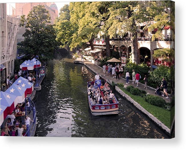 Impressionism Acrylic Print featuring the photograph Riverwalk IIi by Steven Sparks