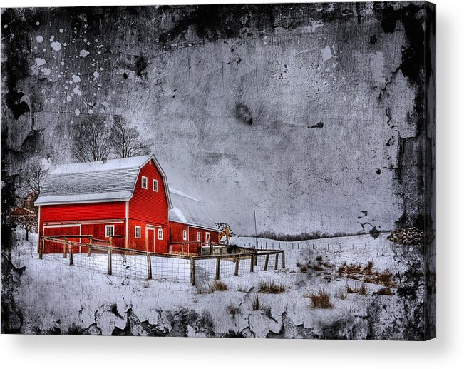 Barn Acrylic Print featuring the photograph Rural Textures by Evelina Kremsdorf