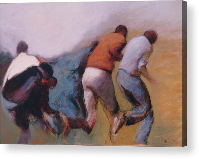 Apartheid Acrylic Print featuring the painting S African Series II by James LeGros