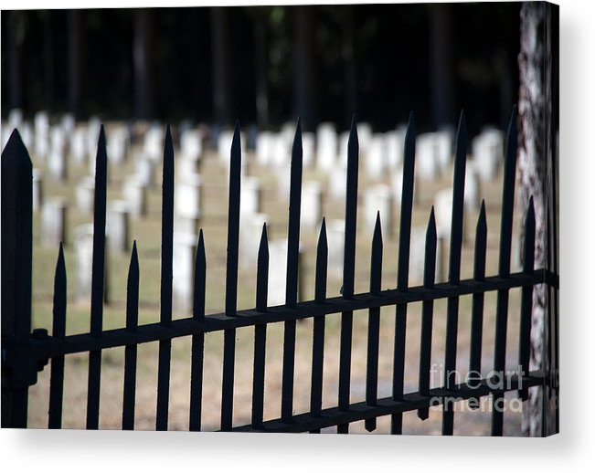 New York Acrylic Print featuring the photograph Sackets Harbor Military Cemetery by Fred Lassmann