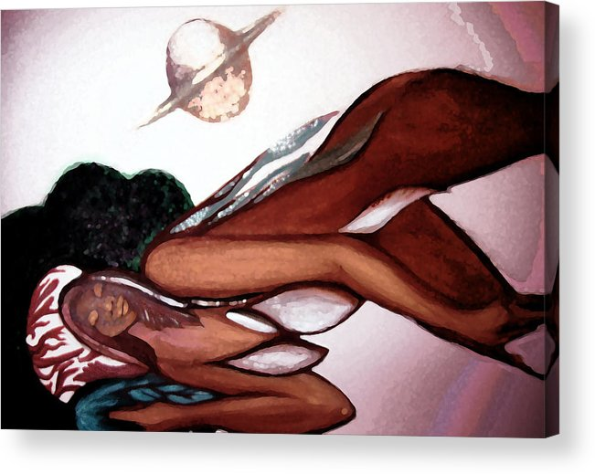 Seshat Acrylic Print featuring the painting Seshat's Sync by MandyCka Johnson