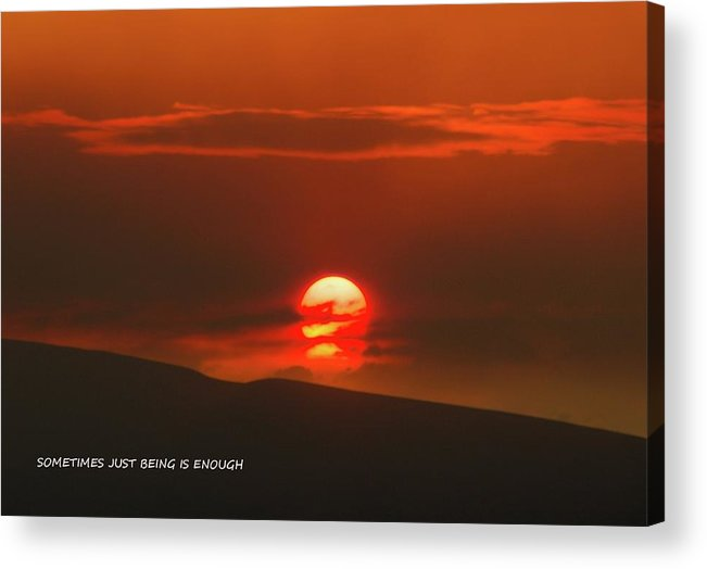 Sunset Acrylic Print featuring the photograph Setting Sun Over The Wenas Valley by Jeff Swan