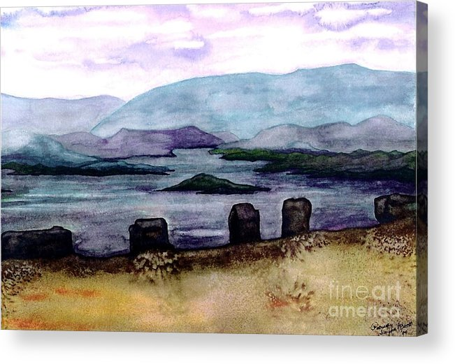 Original Painting Acrylic Print featuring the painting Silent Sentinels by Patricia Griffin Brett