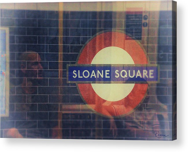 Tube Acrylic Print featuring the photograph Sloane Square Portrait by Rasma Bertz