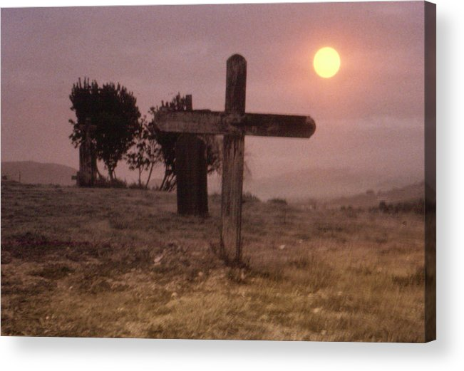 Cemetery Acrylic Print featuring the photograph Solitary Confinement by Gary Brandes