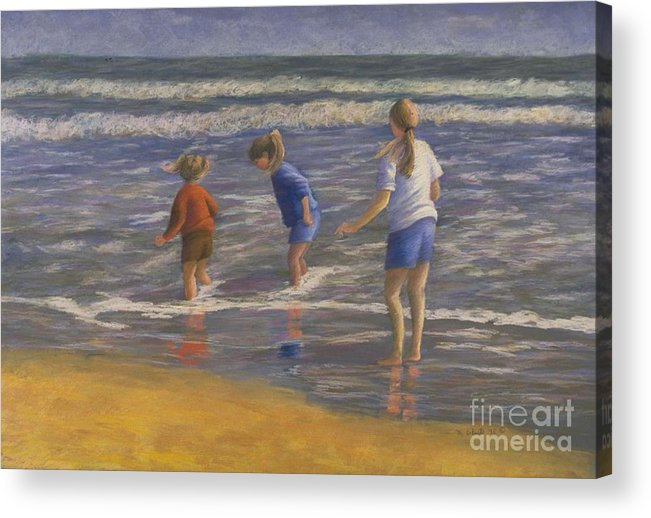 Beach Acrylic Print featuring the painting Song Of Praise by Mary Erbert