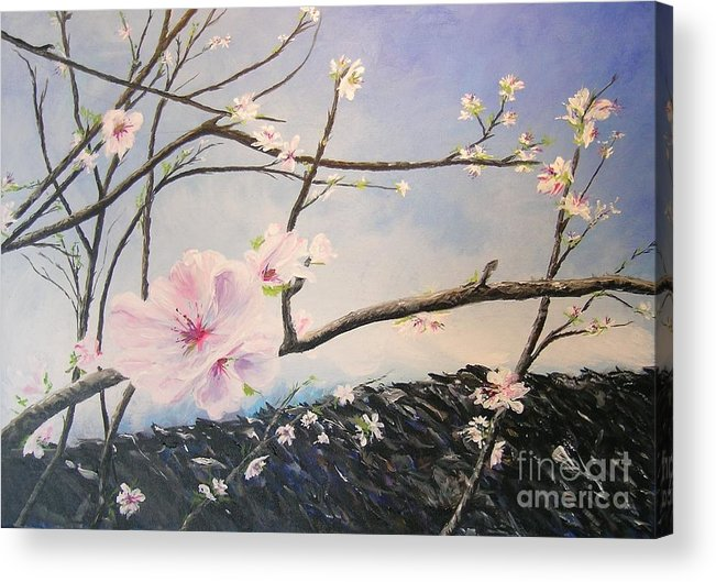 Flower Acrylic Print featuring the painting Spring Is In The Air by Lizzy Forrester