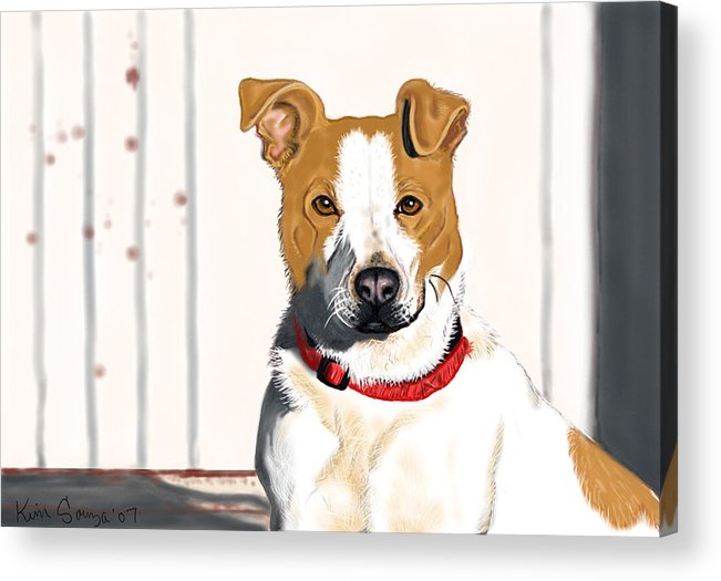 Dogs Acrylic Print featuring the painting Spur by Kim Souza