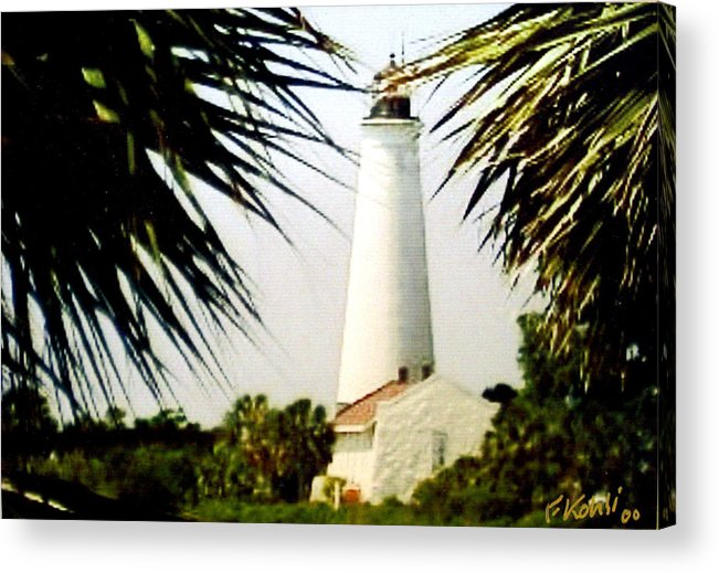 Lighthouse Photographs Acrylic Print featuring the photograph St Marks Lighthouse by Frederic Kohli
