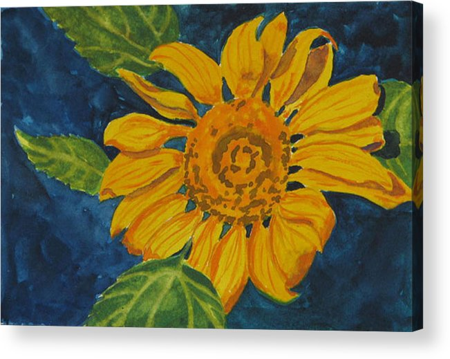 Sunflower Acrylic Print featuring the painting Sunflower - Mini by Libby Cagle