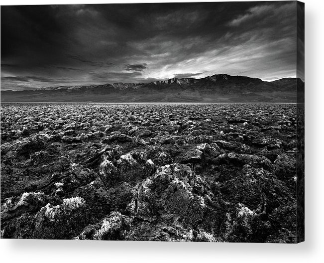 Horizontal Acrylic Print featuring the photograph Sunrise At Devil's Golf Course, Death Valley, Deat by David Kiene