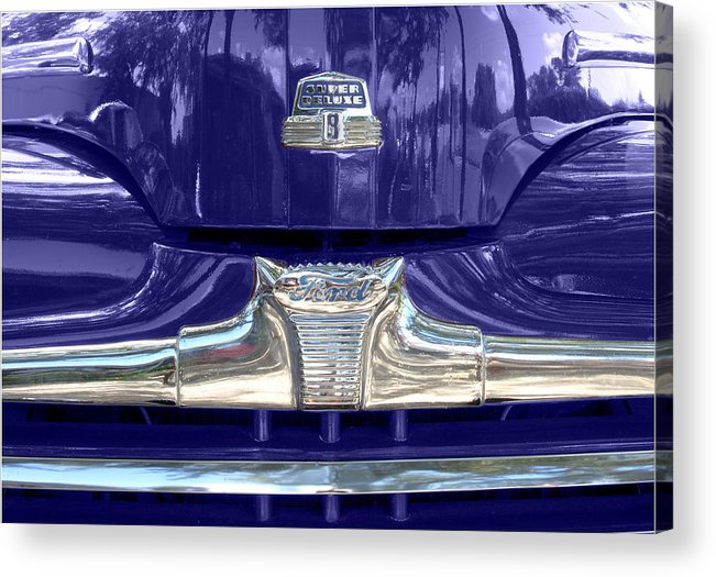 Ford Super Deluxe Acrylic Print featuring the photograph Super Deluxe Blue by Kurt Gustafson