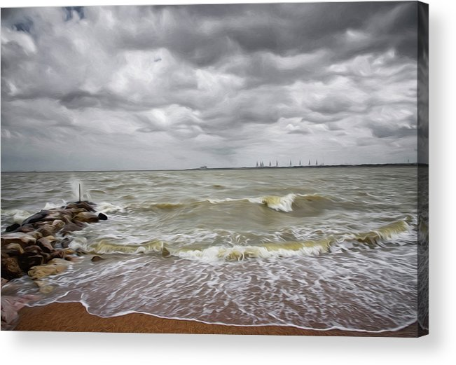 Sylvan Park Beach Acrylic Print featuring the photograph Sylvan Park Beach by Steven Michael