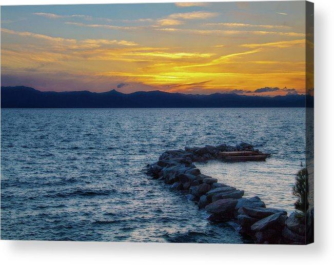 Photography Acrylic Print featuring the digital art Tahoe Sunset by Terry Davis