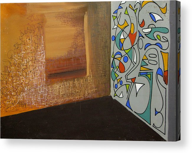 Abstract Acrylic Print featuring the painting The Apartment by David McKee