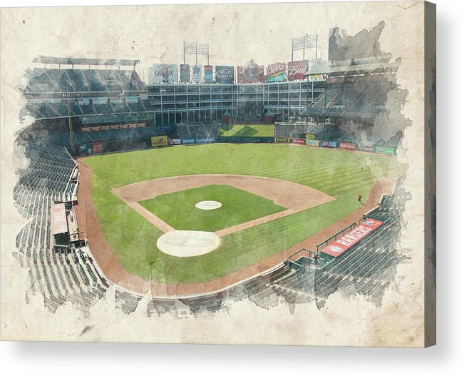 Texas Acrylic Print featuring the photograph The Ballpark by Ricky Barnard