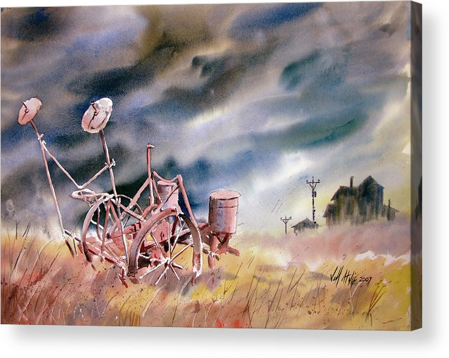 Rural Acrylic Print featuring the painting The Corn Planter by Jeff Atnip